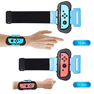 Just Dance 2019 - Dance Band for Nintendo Switch,JoyCon Cuff for Nintendo Switch - Adjustable Elastic Strap with Space for Joy-Cons Left or Right,2 Pack
