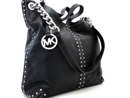 0345acf6a Michael Kors Black Leather Uptown Astor Large Satchel Tote Handbag:  Amazon.ca: Shoes & Handbags