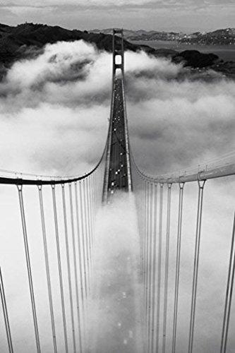 Misty Morning (Golden Gate Bridge) Art Poster Print - 24x36 Travel Poster Print, 24x36