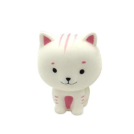 Elenxs Los Gatos de Dibujos Animados Blanco Anti Stress Juguetes para niños de Rebote Lento Simulación