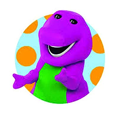 Favorite Barney The Dinosaur Show Mascot Kids TV Show Wall Decals Decor Baby Songs I Love You Purple Dinosaurs Sticker Room Decoration for Bedrooms Vinyl Stickers Sticker Boy Girls Size 20x20 inch: Home & Kitchen
