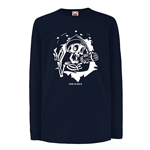 lepni.me T-Shirt for Kids The Skull - Ticking