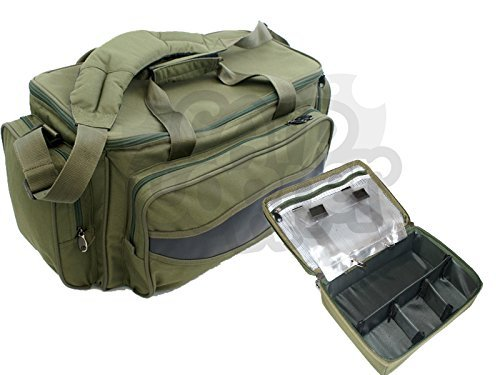 Carp Coarse Fishing Padded Green Tackle Bag Carryall With Multi Purpose Case Made By NGT by NGT