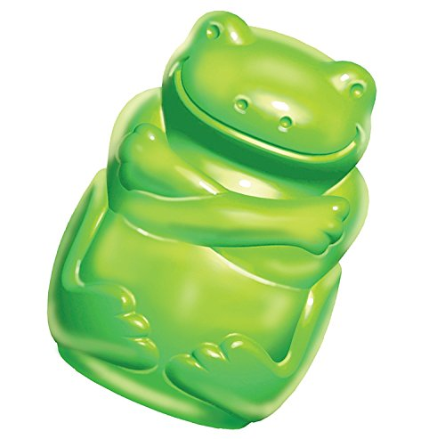 KONG Squeezz Jels Frog Squeaking Dog Toy, Large, Green