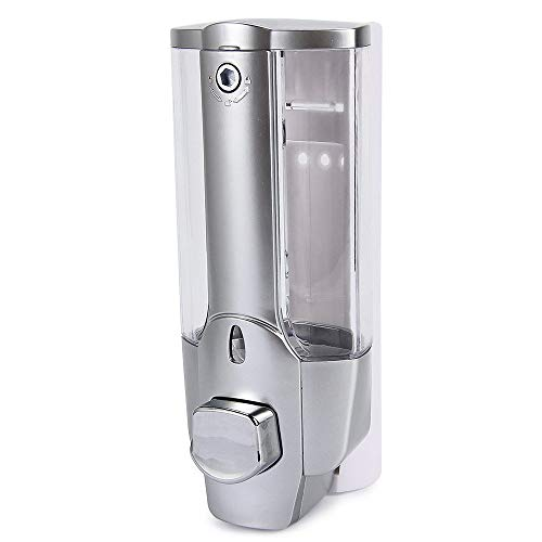 Aidou Kitchen Bathroom Single Head Soap Dispenser with a Lock ABS Plastic Liquid Shampoo Vessel - 350ml Sanitizer Container Sink Liquid Soap Lotion Dispe ()