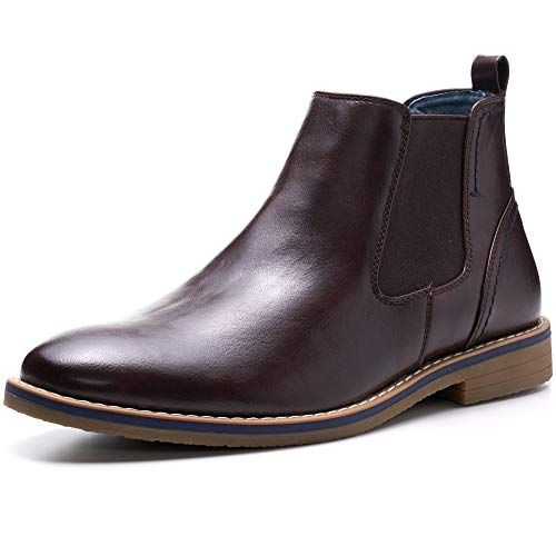 alpine swiss Mens Owen Chelsea Boots Pull Up Ankle Boots Brown 13 M US