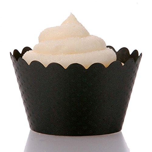 Dress My Cupcake Standard Black Cupcake Wrappers, Set of 100