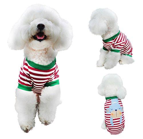 Chol & Vivi Shirts For Dogs Medium, Dog T-shirts Clothes Summer Cat Apparel Fit Medium Small Large Extra Small Dog Boys Dog Girls, 2PCS Adorable Animal Printing Cotton Dog Shirts, Medium Size by Chol & Vivi (Image #4)