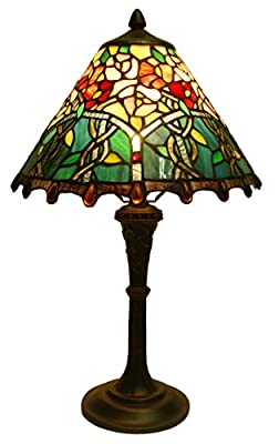 Fine Art Lighting Tiffany Table Lamp, 12 by 20-Inch, 450 Glass Cuts and 25 Cabochons
