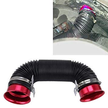 Uniqus Car Auto Universal Tube Air Filter Adjustable Cold Air Injection Intake System Pipe Without Air Filter