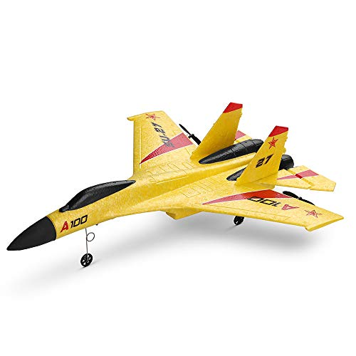 Knightly WLtoys A100 SU-27 3CH 2.4G RC Airplane RTF Glider EPP Composite Material 14+Micro 2 Channel Batteries Aircraft Toy Model Aerial