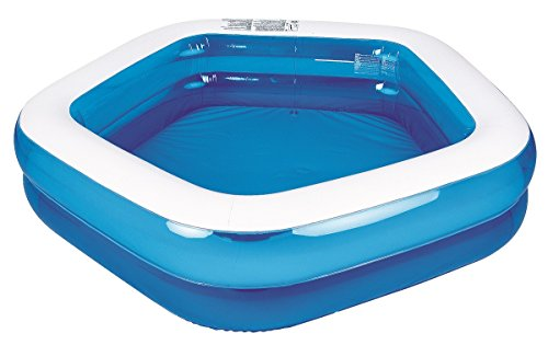 Pool Central Blue and White Pentagon Inspired Inflatable Swimming Pool Toy, 79