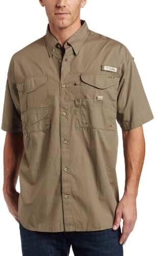 Columbia Men's Bonehead Short Sleeve Fishing Shirt (Sage, Small)