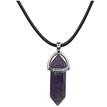 Fashion Women Girl Gemstones Crystal Natural Stone Pendant Chain Necklace Charms