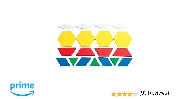 Amazon.com: Dowling Magnets Foam Fun Magnet Pattern Blocks: Toys ...