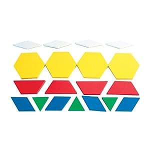 Dowling Magnets Foam Fun Magnet Pattern Blocks