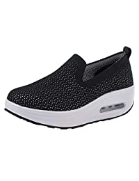 Women's Sneakers Platform Loafer Breathable Thick-Soled Air Cushion Running Shoes