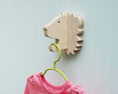 Lion wall hook crafted from birch - Coat Hook Lion