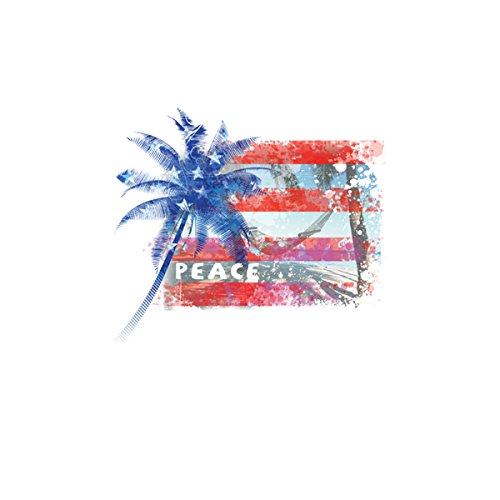 Bandera América USA Mujer Camiseta XS-2XL Nuevo Blanco