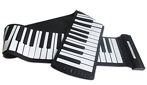 Tiangtech® New 2015 Model Flexible Electronic Music Keyboard with USB | Electronic Roll-Up MIDI Synthesizer Piano with 88 Soft Silicone Keys Tia-2582