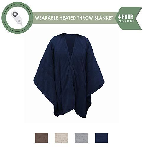 Perfect Fit Serta Heated Snuggler Wrap Throw - with 5 settin