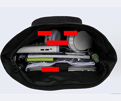 WYXIN Business Laptop Rucksack mit USB-Ladeanschluss, Notebook College Rucksack Satchel Schultasche für Walking, Radfahren, Reisen oder Mehrzweck-Daypacks red