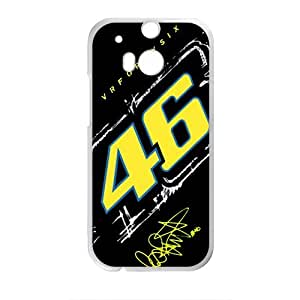 VR46 Official Racing Collection Valentino Rossi Design Plastic Case Cover For HTC M8