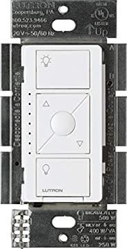 Lutron Caseta Wireless Smart Lighting ELV Dimmer Switch for Electronic Low Voltage Light Bulbs, PD-5NE-WH, Whi
