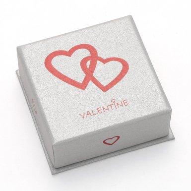 Pack de 3 caja de regalo de San Valentín – buena calidad Plata pequeña caja de