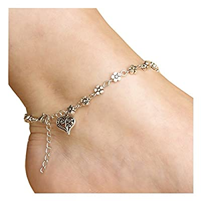 Discount Zealmer Boho Vintage Barefoot Anklet Bracelet Feet Chain Jewelry Silver Gold Color for cheap
