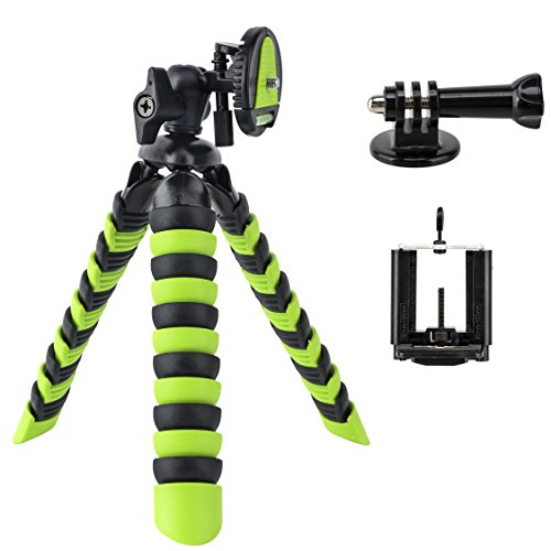Tairoad Flexible Mini Tripod with Quick Release Plate Tripod Mount Adapter for Smartphone Gopro