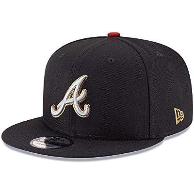 New Era MLB Atlanta Braves Triumph World Series Patch Snapback Cap, Black Gold Adjustable Hat