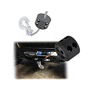 【Upgrade Version】Opall Black Rubber Winch Cable Hook Stopper for ATV UTV,Heavy Duty Line Saver with Allen Wrench