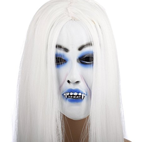 Sadako Costume (FlashHawk(TM)Skeleton Terrorist The Grudge Face Sadako Mask)