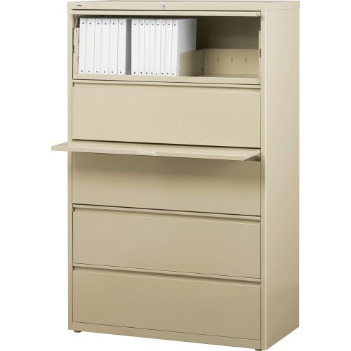- Lorell 5-Drawer Lateral File, 42 by 18-5/8 by 67-11/16-Inch, Putty