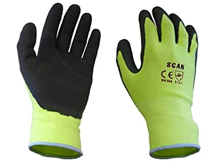 Scan Thermal Latex Coated Gloves Size 8 Medium Yard, Garden & Outdoor Living pack Of 5