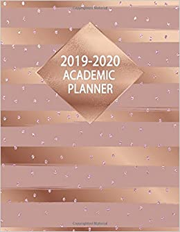 Amazon.com: Academic Planner 2019-2020: Nifty Rose Gold ...