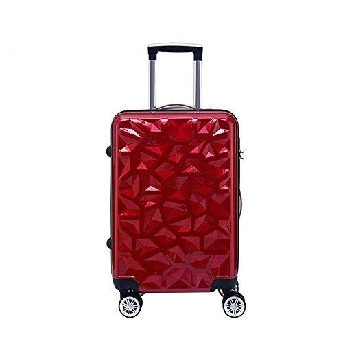 Laishutin Luggage Suitcase 360° Silent Multidirectional Wheels ABS material retro style geometric pattern aluminum alloy…
