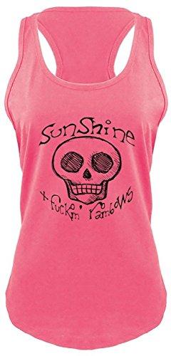 Comical Shirt Ladies Racerback Tank Sunshine and Fucking