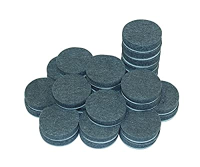 """(50 PACK) 1"""" Round Self-Stick Furniture Felt Pads Pack for Hardwood & Laminate flooring Protection 