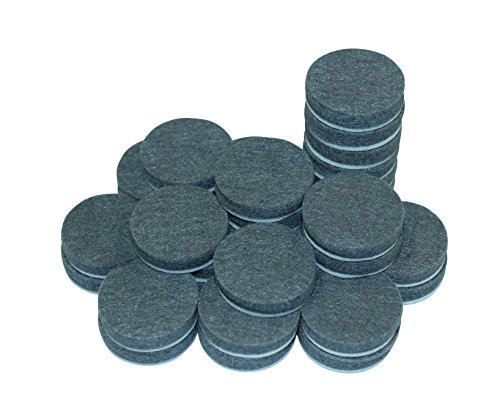 Self-Stick Furniture Felt Pads Pack for Hardwood & Laminate flooring Protection | Heavy Duty Pads Prevents Furniture Scratches | Eco-Friendly Grey Linen Furniture Feet Pads (Wholesale Curio Cabinets)
