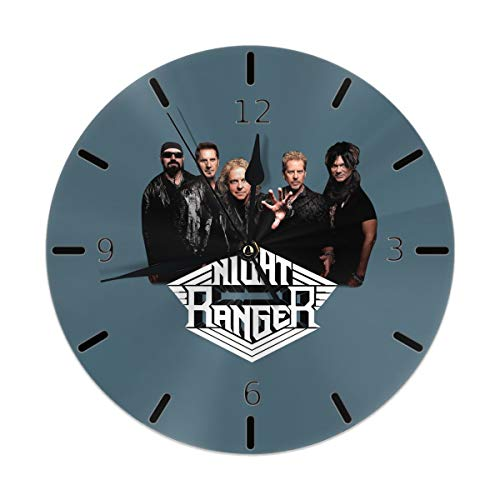 Flypo-yoc Night Ranger Simple Country Style Round Wall Clock Bedroom Living Room Home Office Decor ()