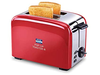 Kent 16030 750-Watt 2-Slice Pop-up Toaster (Red)