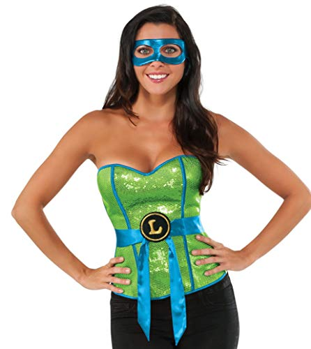 Nickelodeon Rubie's Women's Teenage Mutant Ninja Turtles Classic Sequined Leonardo Corset, Multi, Large -