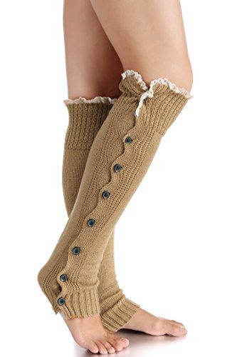 Avidlove Women Socks Knitted Boot Cuffs Button Leg