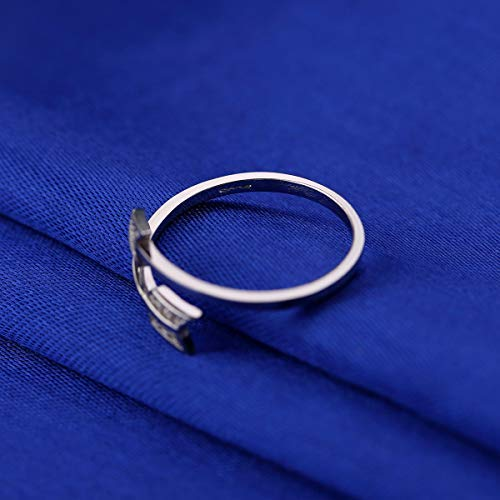 Mothers Day Valentines Present 925 Sterling Silver Adjustable Rings for Women Tarnish Resistant Engagement Wedding Band Ring US Size 5-8