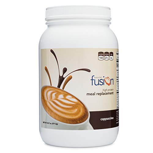 Bariatric Fusion Meal Replacement Protein 21 Serving Tub Cappuccino for Bariatric Surgery Patients Including Gastric Bypass & Sleeve Gastrectomy (21 Fusion)