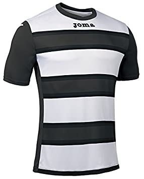 Joma Europa III Camiseta de Juego Manga Corta, Hombre, Antracita/Blanco, 2XL