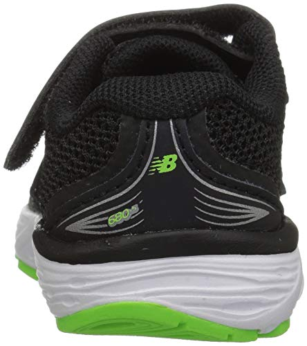 New Balance Boys' 680v5 Hook and Loop Running Shoe Black/RBG Green 2 XW US Infant by New Balance (Image #2)