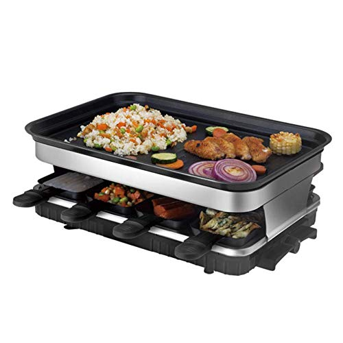 Raclette Electric Grill Infrared Smokeless Multifunction Non-Stick Removable Bakeware Indoor BBQ Griddle